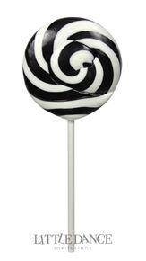 Large 8cm diameter black swirl lollipops for kids birthday parties, weddings, christenings and corporate events. For sale online in Australia – Australian website. Gluten, nut and dairy free.