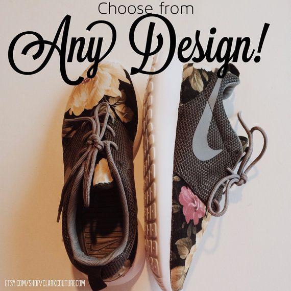 Women's Custom Floral Nike Roshe Runs by ClarkCouturecom on Etsy, $140.00