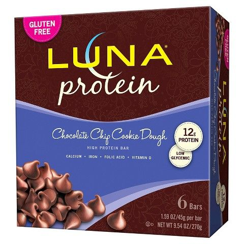 Luna Protein Bar Chocolate Chip Cookie Dough - 6 Count