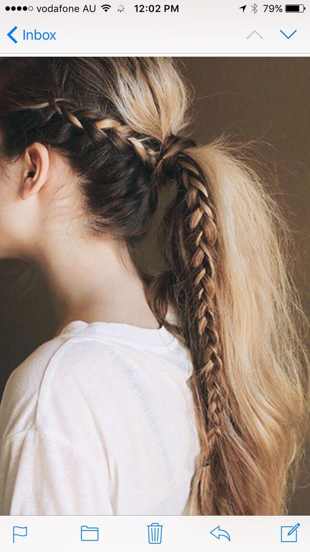 17 meilleures id es propos de queue de cheval blonde sur pinterest queue de cheval d coiff e - Tresse queue de cheval ...