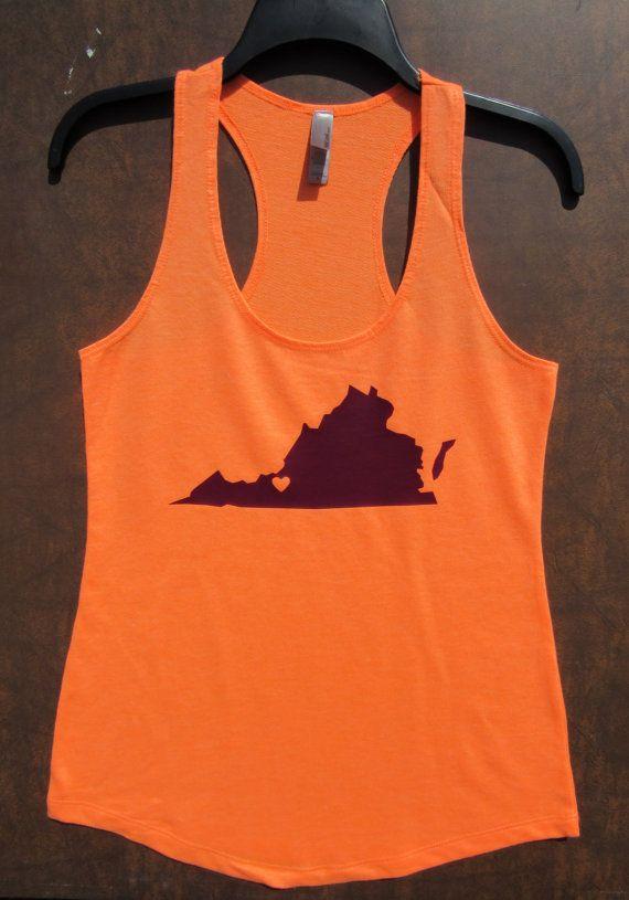 Blacksburg Tank - Would prefer maroon shirt with orange state.