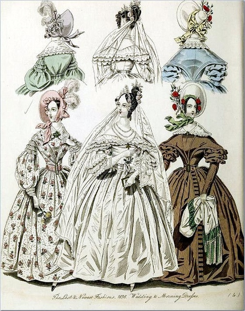 The World of Fashion and Continental Feuilletons 1836 Plate 33 by CharmaineZoe, via Flickr