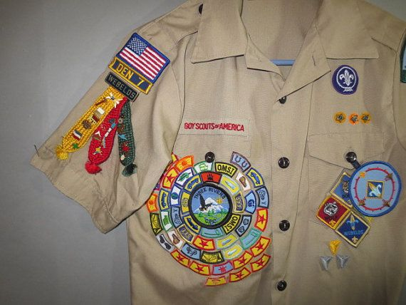 BOY SCOUT Shirt // Pins Patches Ribbons // Cascade Pacific ...