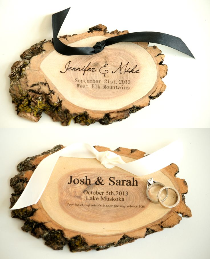 Rustic Ring pillow for Fall or Winter Wedding from Little Wee Shop - STUNNING*