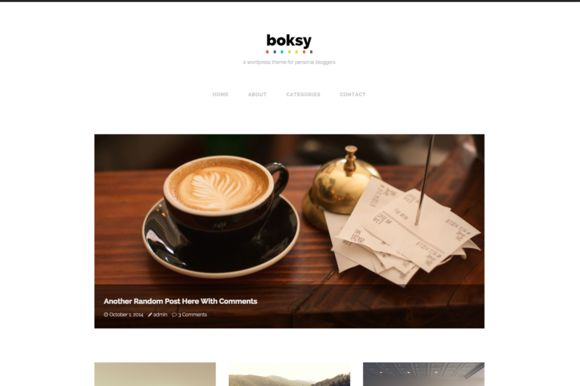 Boksy - WordPress Theme for Bloggers by gbobbd