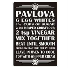 Our Kiwiana Collection - Recipe Board Art - Pavlova - The Furniture Store