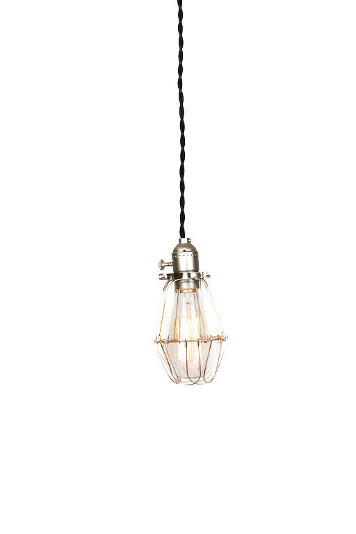 Vintage Industrial Silver Cage Light  Economy by junkyardlighting, $59.00