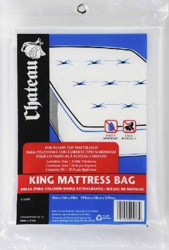 floridaboxes.com King Plastic Mattress Cover Moving Bargain-- King Size Plastic Mattress Cover for Moving. The plastic mattress cover for king size mattress and box springs is a small investment that protects our costly beds. The mattress covers for moving are offered for all standard sizes of beds.