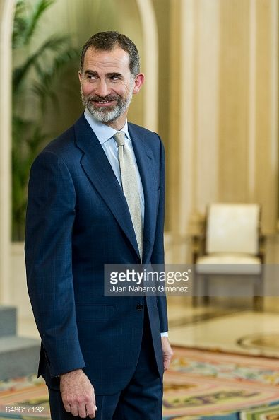 King Felipe VI eceives the basketball team of Real Madrid CF champion at Zarzuela Palace on March 6, 2017