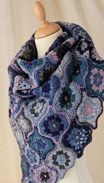 Ravelry: Mystical Lanterns Shawl pattern by Jane Crowfoot