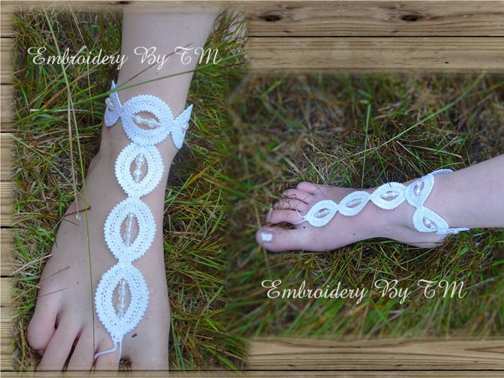 (10) Name: 'Embroidery : Barefoot sandals lace modern
