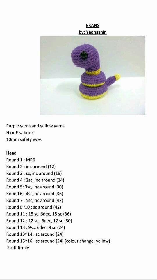 Mejores 212 imágenes de pokemon go en Pinterest | Patrones amigurumi ...