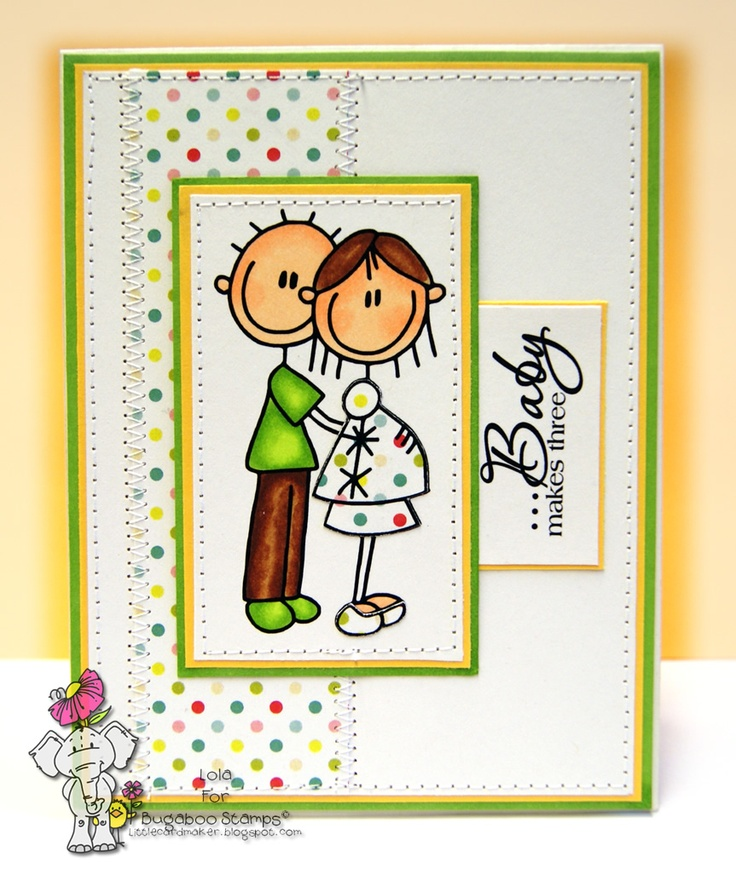 Little Card Maker: Baby on the Way Bugaboo Freebie