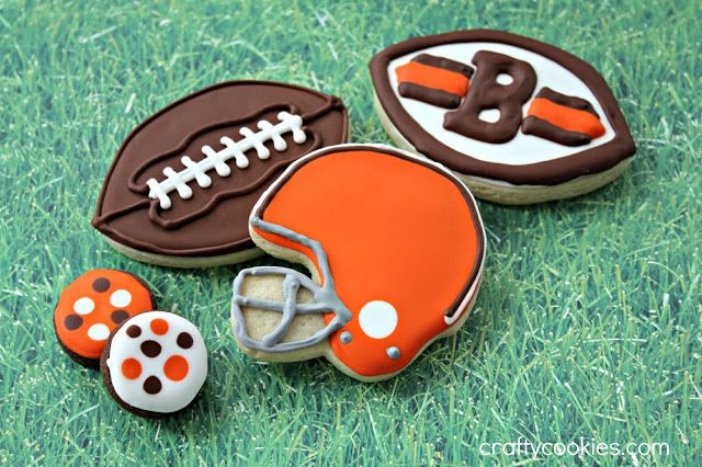Crafty Cookies: Here We Go Brownies! Cleveland Browns Football Cookies