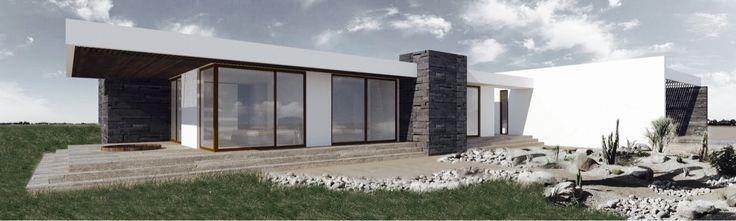 Render casa chamonate, copiapo Arquitectos  Matias Hochschild  Walter Hochschild
