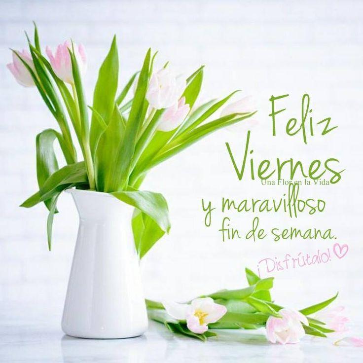 Feliz Viernes y maravilloso fin de semana.