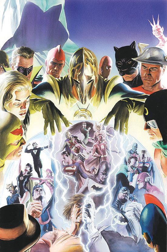 #DC #Crises #Fan #Art. (Crisis on Multiple Earths. Vol.1 Cover) By: Alex Ross. (THE * 5 * STÅR * ÅWARD * OF: * AW YEAH, IT'S MAJOR ÅWESOMENESS!!!™)[THANK U 4 PINNING!!!<·><]<©>ÅÅÅ+(OB4E)