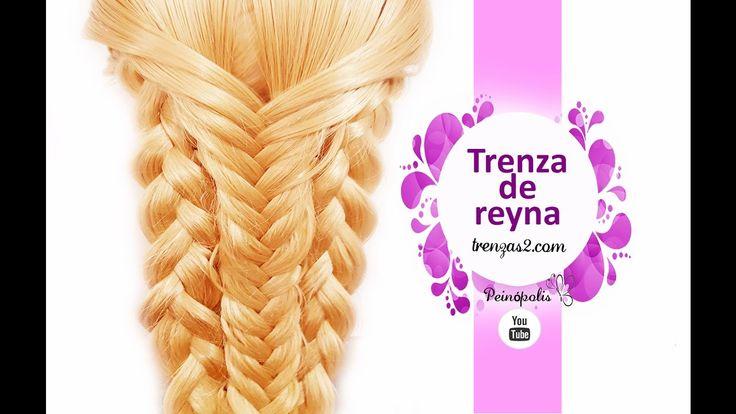 Como Hacer Trenzas Faciles y Bonitos de Reyna MUY BONITO!!