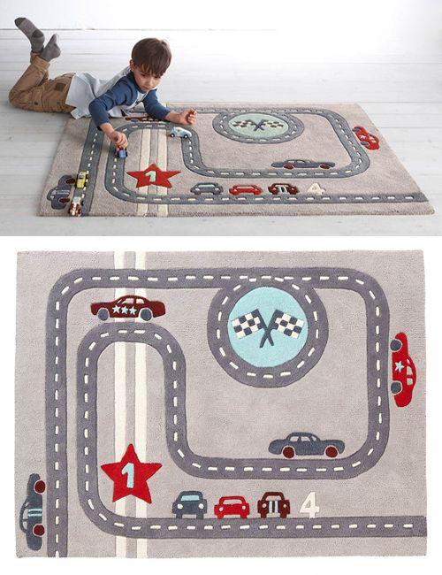 10 alfombras infantiles para jugar / 4- Alfombra para niño 'circuito de…