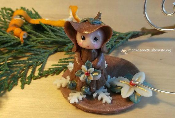 Elfo dell' Inverno  Fatina del bosco  di LaBottegadimarika su Etsy