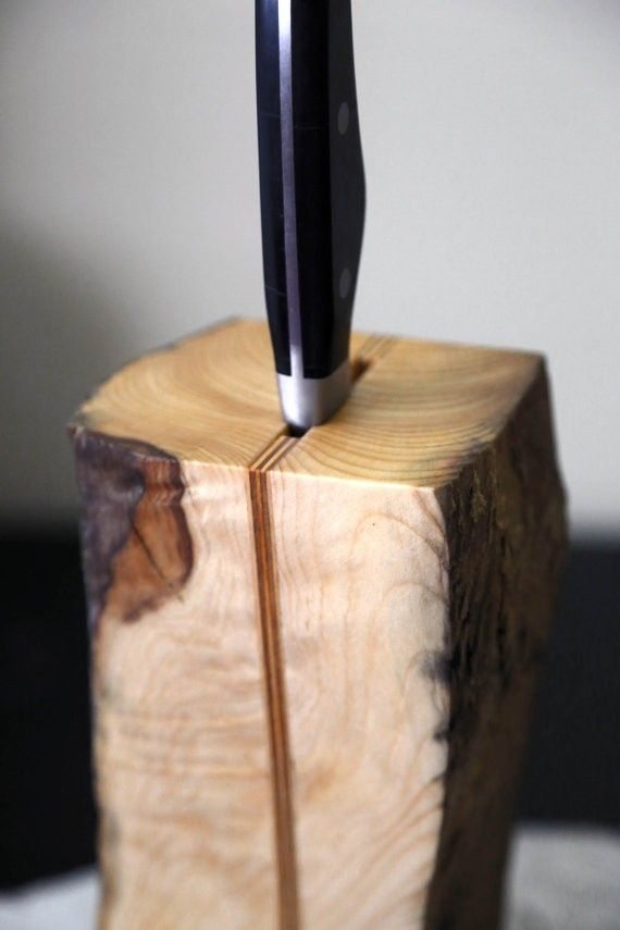 Driftwood Knife Holder. Knife Block. Scandinavian design. Wooden Knife Holder. Kitchen Decor via A Viking Design. Click on the image to see more!