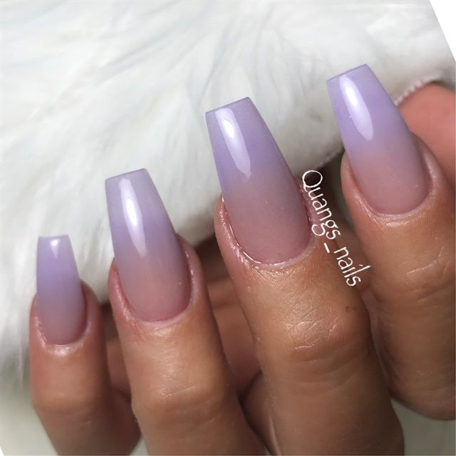 Day 86 Violet Ombre Nail Art Violet Nails Purple Ombre Nails Nail Art Ombre