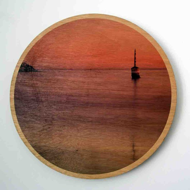 Jo Ward Photography with some prints on marine ply Cottesloe Pylon Wood Print 29cm dia black & white image printed directly onto 6mm marine grade plywood using UV print technology.  Comes complete with a ready to hang aluminium wall mount system