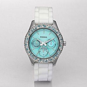 Tiffany blue watch, Fossil