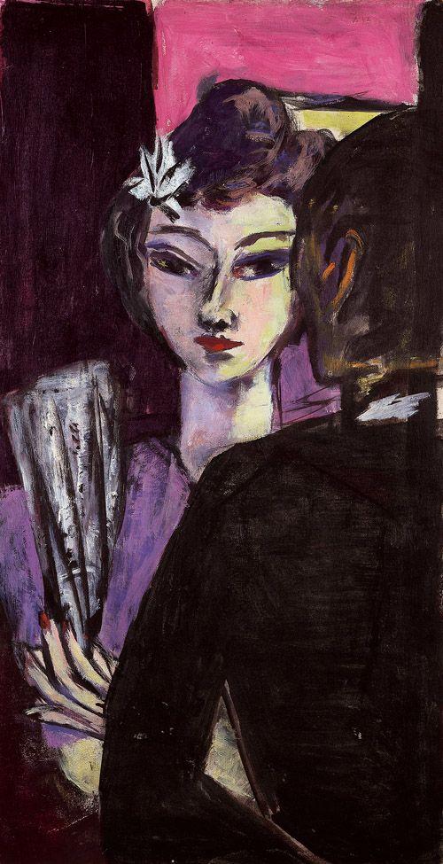 Max Beckmann (German,1884 - 1950) Girl with Drawers(Mädchen mit Fächer),1942 Oil on canvas