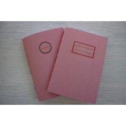 Πουά Ροζ Σημειωματάριο με γραμμές, δεμένο στο χέρι