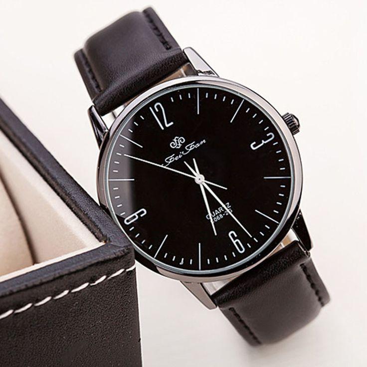 2016 Luxury Brand Ultra-thin Watch For Man Women Fashion Casual PU Leather Band Quartz Wrist Watches relogio Clock Freeshipping