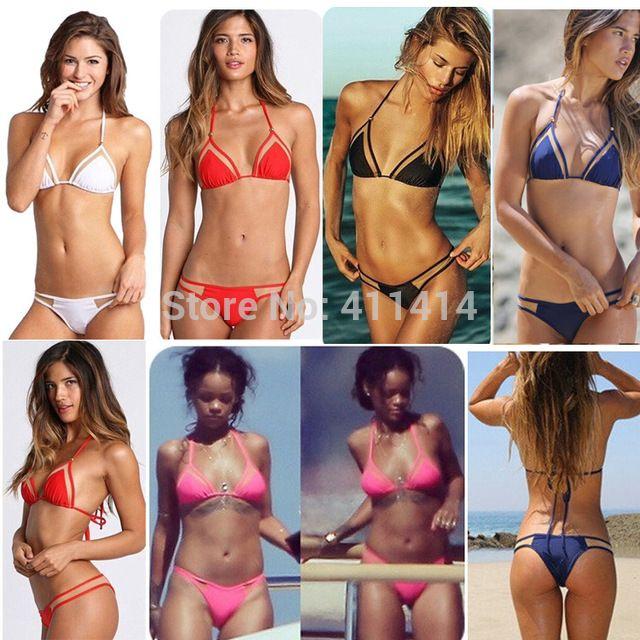 2015 new triangular Minimal coverage sexy swimsuit swimwear micro mini bikini beach bandage Neon bathing biquini for women US $870.00 Specifics GenderWomen Item TypeBikinis Set is_customizedYes Pattern TypeSolid Brand Nameoem WaistHigh Waist MaterialPolyester,Spandex Color StyleNatural Color Model Numbernew015  Click to Buy :http://goo.gl/t9O329