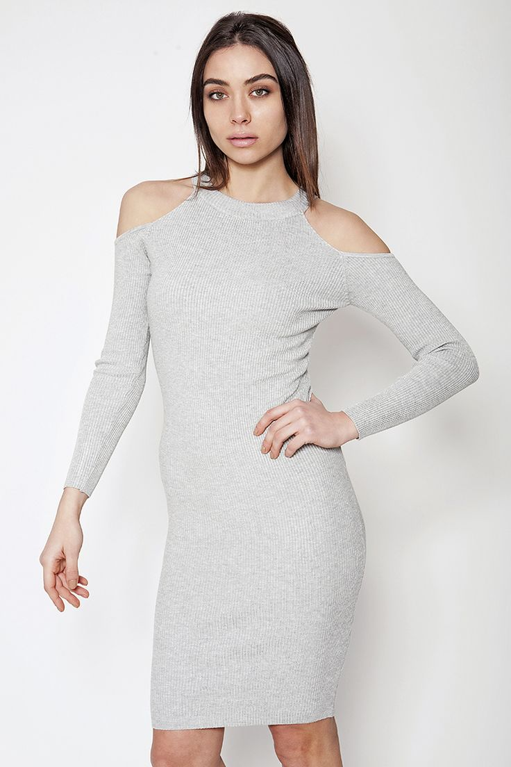 Off Shoulder Ribbed Midi Φόρεμα - ΡΟΥΧΑ -> Φορέματα & Φόρμες | Made of Grace