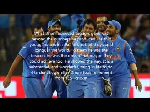 BEST LINES SAID FOR M S DHONI