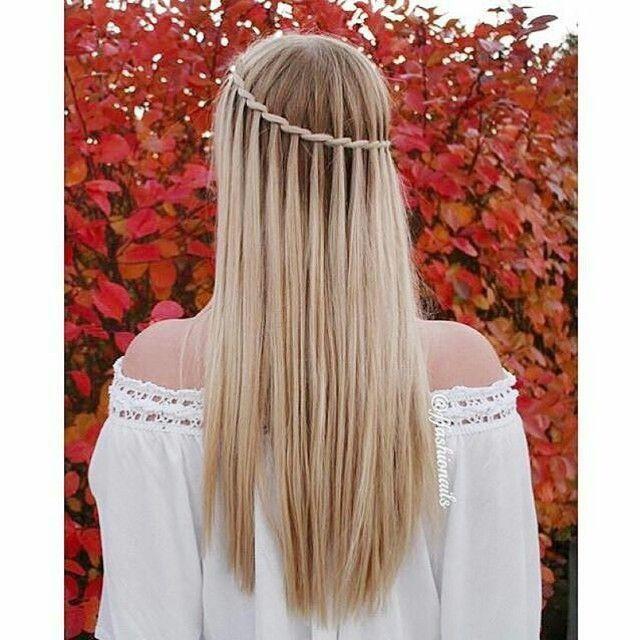 Las 25 mejores ideas sobre trenza cascada en pinterest - Trenzas peinados faciles ...