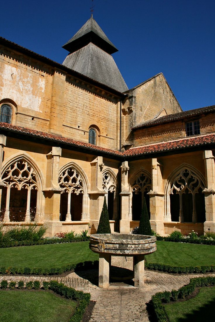This is the Cloister of L'Abbaye de Cadouin, built in the 12th century.