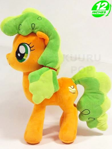 My Little Pony Apple Brown Betty Plush  The next member of the Apple family to join our plush collection is Apple Brown Betty! Applejack's charming aunt looks adorable with her green hair and embroidered cutie mark.  - Plush is approx 12 inches / 30 cm tall. - Brand new with tags. - Ages 6 & up.