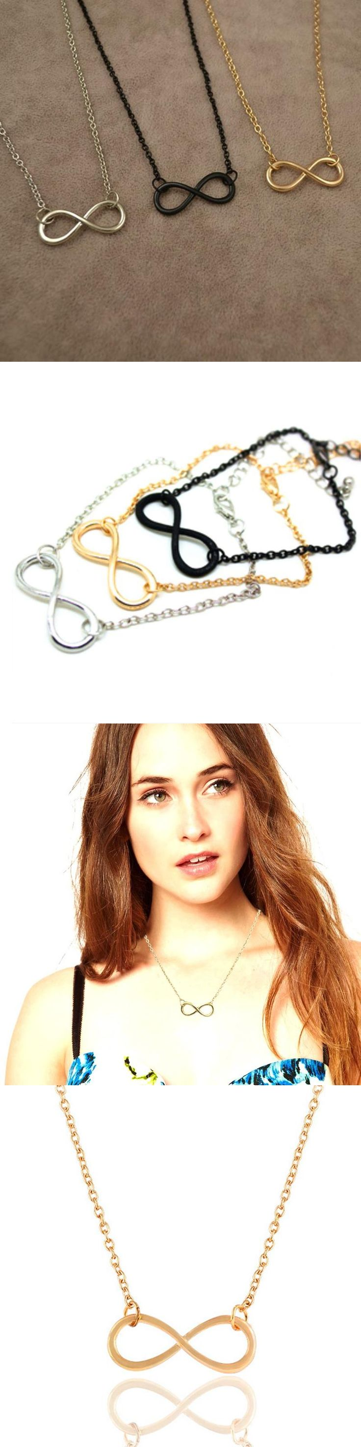 Hot Sales Fashion Luxury Charm Alloy Chain Infinity pendant necklace jewelry -CRYSTAL SHOP Free shipping