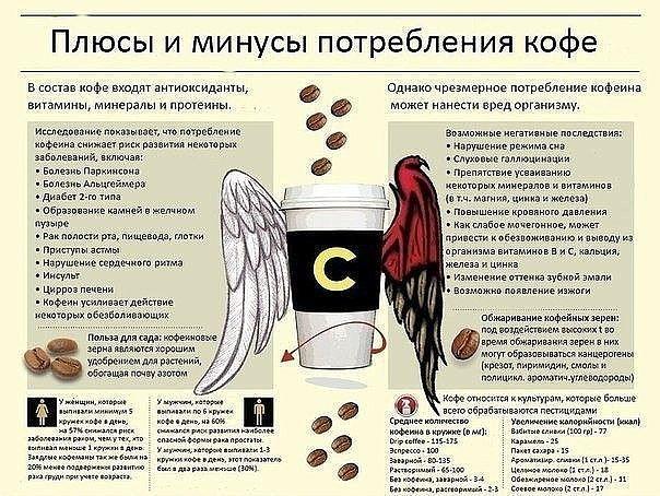 Плюсы и минусы потребления кофе