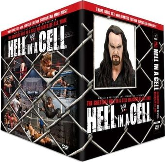 """Wrestling - WWE Hell in a Cell (3-DVD Box Set with Limited Edition Undertaker Mini Bust) (2012) Starring The Undertaker, Shawn Michaels, Mankind, Paul """"Triple H"""" Levesque & Dave Bautista; WWE Home Video 