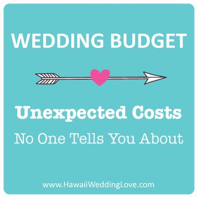 Wedding Budget: Unexpected Costs
