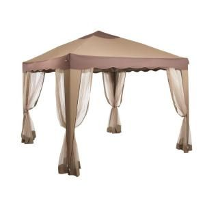 N/A 10 ft. x 10 ft. Portable Gazebo in Dark Brown-5JGZ7252 at The Home Depot ok maybe this would work.