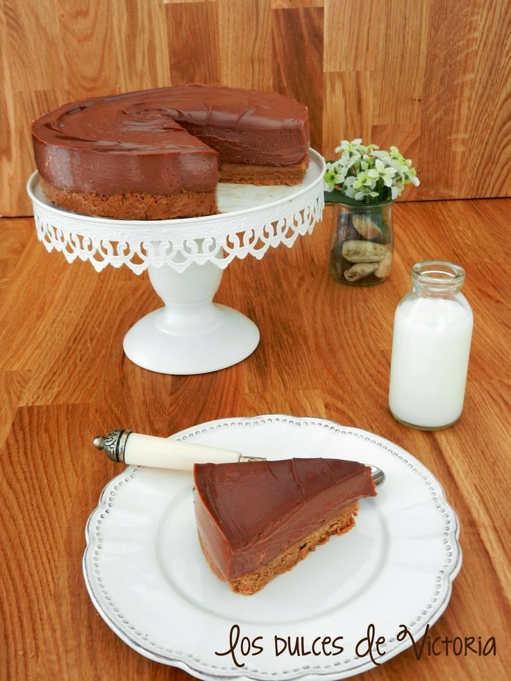 Tarta de queso de nutella. Cheesecake . Chocolate