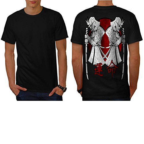 Japan Warrior Art Samurai Stand Men NEW L Tshirt Back  Wellcoda >>> More info could be found at the image url.