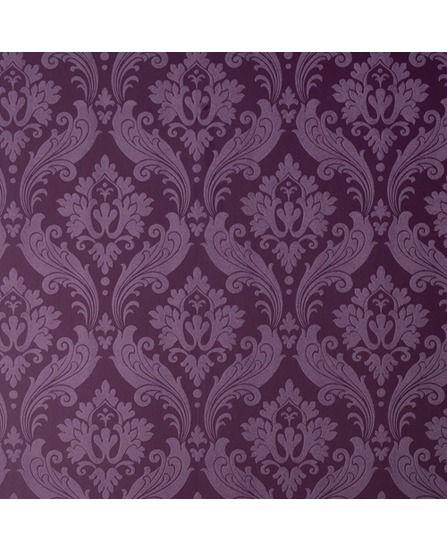 ... Kelly Hoppen Vintage Flock Purple Damask Wallpaper | Graham & Brown