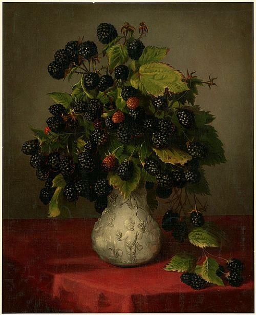 Lily Martin Spencer, Blackberries in a Vase 1861-97