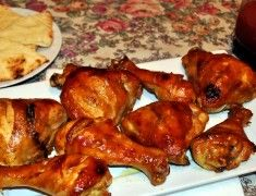 Курица с медом и горчицей
