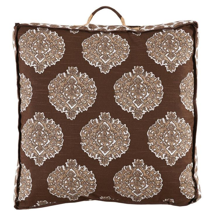 Madras Cafe Floor Pillow  #towels #quilts #westportct #pillows #06880 #homedecor #bedding #bedlinens #Figlinensandhome #figlinenswestport