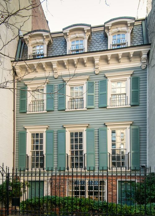 THE COLOR!!! 128 East 93rd Street, New York, NY c1866 - one of only five remaining wooden houses on the Upper East Side.