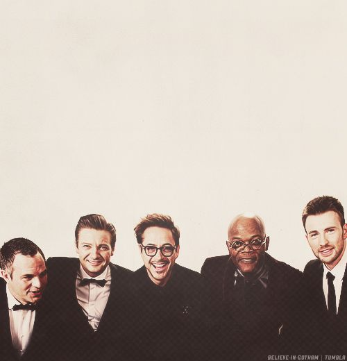 Mark Ruffalo, Jeremy Renner, Robert Downey Jr., Samuel L. Jackson, and Chris Evans
